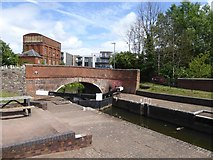 ST2325 : Lock on Bridgwater and Taunton Canal at Firepool by David Smith