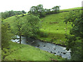 SD8168 : River Ribble between Helwith Bridge and Stainforth  by Stephen Craven