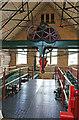 SJ4912 : Coleham Head Pumping Station - beam floor by Chris Allen