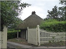 SX9891 : Thatched lodge for Bishop's Court by David Smith