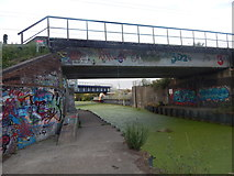 TM1444 : Railway bridges, Sproughton by Hamish Griffin