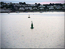 SW8332 : Castle Marker Buoy and St Mawes Bay by David Dixon