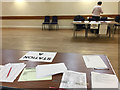 SP2869 : Leek Wootton village hall arranged as a double polling station by Robin Stott