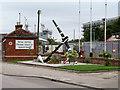 SW8132 : HMS Vincent Memorial, Falmouth Docks by David Dixon