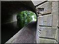 SE2535 : Benchmark on canal bridge, Leeds and Bradford Road by Stephen Craven