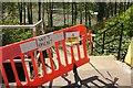 SX8966 : Wet paint on the steps, Wren Park by Derek Harper