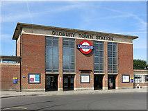 TQ1684 : Sudbury Town tube station - entrance building by Mike Quinn