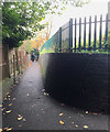 SP1479 : Footpath northwest from Solihull station subway, southwest end by Robin Stott