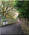 SP1479 : Footpath southeast from Solihull station subway, southwest end by Robin Stott