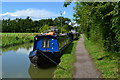 SP4646 : Blue boat and blue sky, Oxford Canal at Cropredy by David Martin