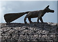 SK5502 : Fox on a thatched roof by Mat Fascione