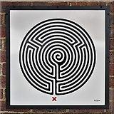 TQ1684 : Sudbury Town tube station - Labyrinth 16 by Mike Quinn