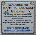 NU2132 : Welcome to North Sunderland Harbour by M J Richardson