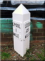 SJ3492 : Leeds-Liverpool Canal Milepost north of Boundary Road, Liverpool by John S Turner