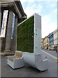 NS5965 : Demonstrating clean air, vertical garden by GoMA by David Smith