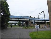 NS5566 : Railway bridge over Ferry Road by David Smith