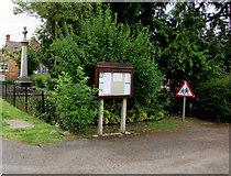 SO9233 : Parish Council noticeboard, Ashchurch by Jaggery