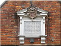 SU9597 : Inscription on the Almshouses in Old Amersham by David Hillas