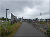 NS5665 : Foot and cycle path along Yorkhill Quays by David Smith