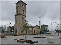 NS5665 : Former Port of Glasgow building (The Pumphouse) by David Smith