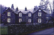 SD3787 : Local stone cottages at Lakeside, Cumbria by Pete Walker
