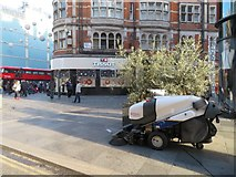 TQ2881 : Keeping London clean - Davies Street by Sandy B