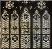 SX9292 : St Gabriel chapel window detail, Exeter Cathedral by Julian P Guffogg