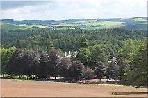 NT4227 : Bowhill and car park by Jim Barton
