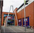 SO8555 : Distinctive entrance to B&M Bargains, Worcester by Jaggery