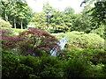 NJ9105 : Arched footbridge, Johnston Gardens by Stanley Howe