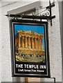 SJ7991 : Sign of the Temple Inn by Gerald England