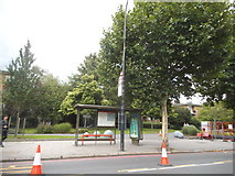 TQ3278 : Bus stop on New Kent Road, Walworth by David Howard