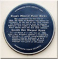 SO5012 : Hyam's Mineral Water Works blue plaque, Glendower Street, Monmouth by Jaggery