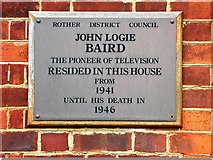 TQ7407 : John Logie Baird plaque on house where he lived in Bexhill by Patrick Roper