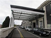 SO8555 : Worcester Shrub Hill railway station entrance by Jaggery