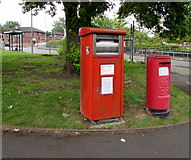 SO8555 : Two postboxes on a Worcester corner by Jaggery