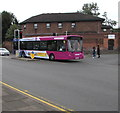 SO8555 : First Worcestershire bus on the B4205, Worcester by Jaggery