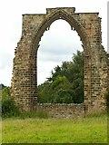 SK4338 : Dale Abbey ruins, east window by Alan Murray-Rust