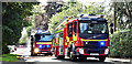 J3775 : Fire appliances, Sydenham, Belfast (August 2017) by Albert Bridge