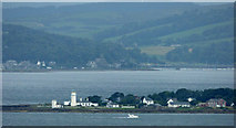 NS1367 : Toward Point and lighthouse from Skelmorlie by Thomas Nugent