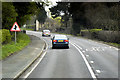 SJ2103 : Staggered Junction Ahead, A483 near to Llwynderw by David Dixon