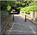ST1479 : Metal posts at the western end of Wingfield Road, Whitchurch, Cardiff  by Jaggery