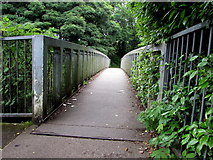 SS9079 : River footbridge, Bridgend by Jaggery