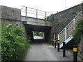SW5537 : Railway bridge over National Cycle Route 3, Hayle Railway Station by JThomas