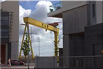 J3574 : Harland and Wolff crane from Titanic Quarter by Robert Eva