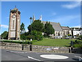 SD4077 : Clock Tower and Church of St Paul, Grange-over-Sands by G Laird