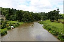 SE7365 : River Derwent from Kirkham Bridge (2) by Chris Heaton