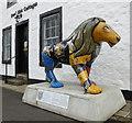 NS4863 : Sma' Shot Cottages lion by Thomas Nugent