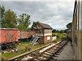 SJ9542 : Foxfield Railway Signal Box by Gerald England