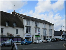 SU1660 : Shops in the Market Place, Pewsey by Jonathan Thacker